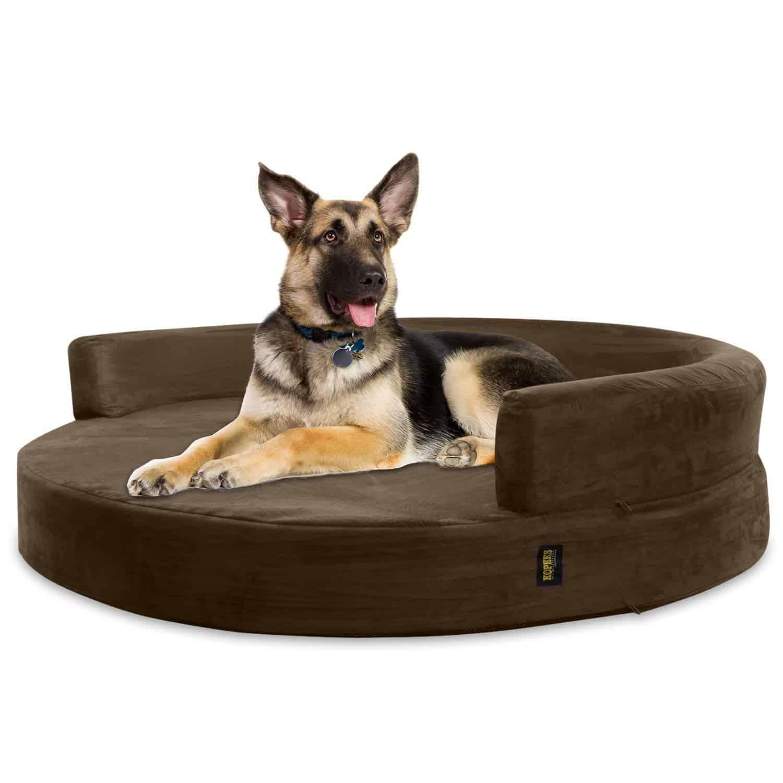 Kopek deluxe orthopedic memory foam round dog bed