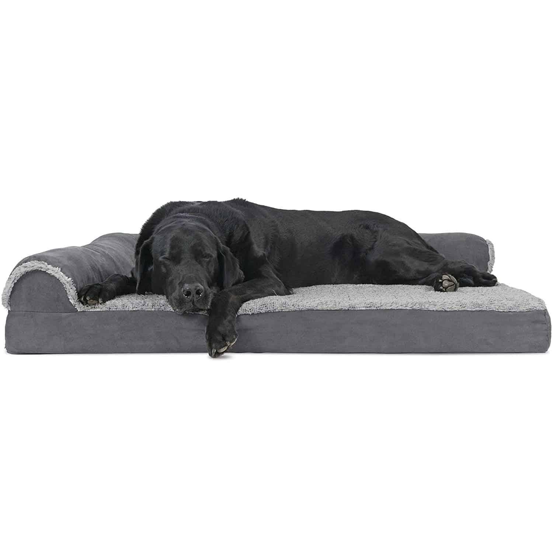 FurHaven L-Shaped Dog Bed