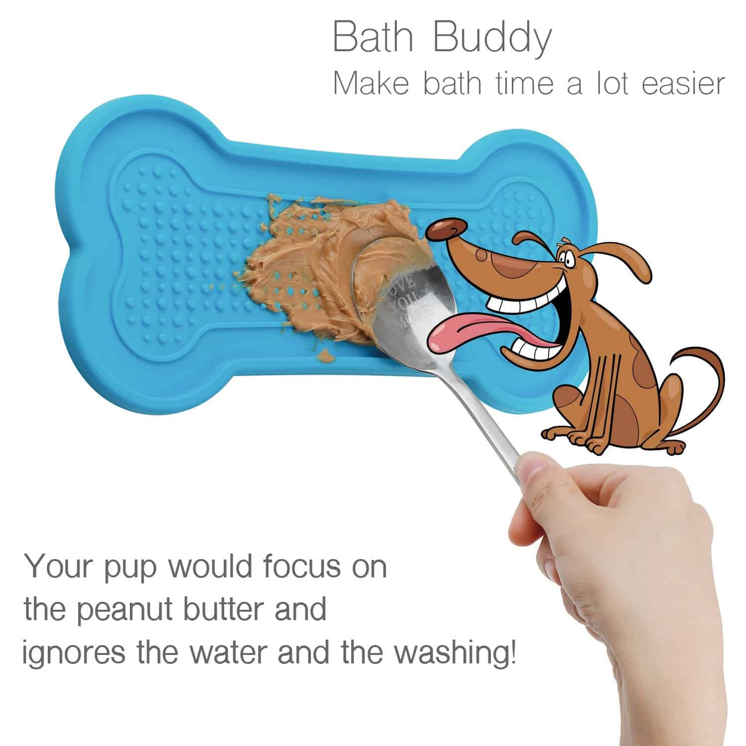 AmOganer Dog Bath Washing Buddy Tub